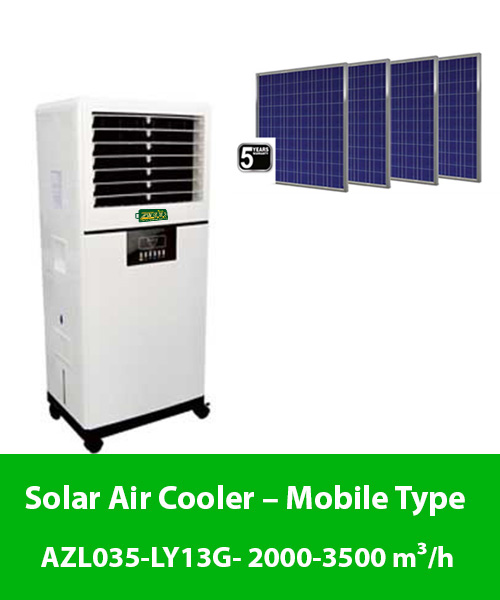 Solar Air Cooler – Mobile Type